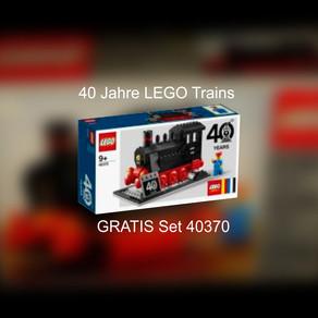 40 Jahre LEGO Train! Ein Zug mit der Nr 40370 zum Jubiläum kommt Gratis?