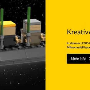 In deinem LEGO® Store kannst du in der Kreativwerkstatt eine Luke Skywalker™ Zeitreise als Mikromode