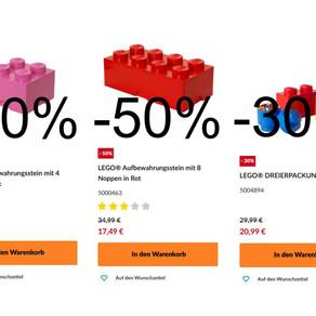 LEGO® Aufbewahrungssteine mit 50% Rabatt im LEGO Online Shop