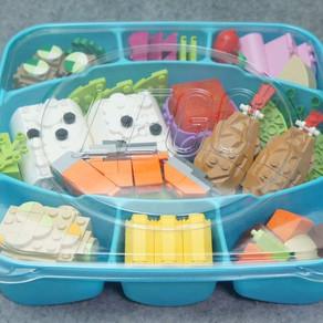 Die neue große LEGO dots Packung ist eine perfekte sushi lunchbox