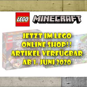 LEGO Minecraft 21161und Minecraft 21163 - jetzt im LEGO Online-Shop