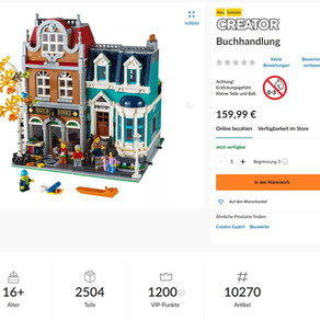LEGO 10270 Creator Expert  Buchhandlung ab heute erhältlich