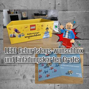 LEGO Geburtstags-wunschbox und Einladungskarten Gratis