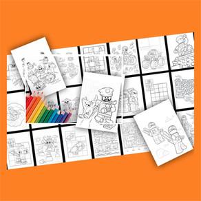 Bring etwas Farbe in einen tristen Tag. Kostenlose LEGO Ausmalbilder!