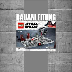 LEGO 40407 Death Star II Battle jetzt als PDF Bauanleitung zum Downloaden