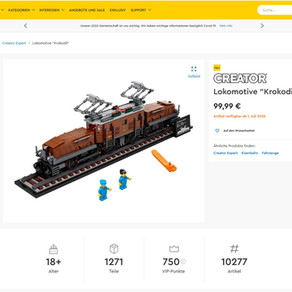 LEGO 10277 Krokodil Lokomotive jetzt im LEGO Online Shop gelistet
