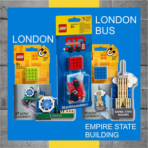 LEGO 854012 London Magnet + LEGO 853914London Bus + Empire State Building