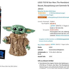 LEGO Oster Angebote bei AMAZON.de bis zu 43% z.B. LEGO 75318 Star Wars The Mandaloria 49,99 Euro