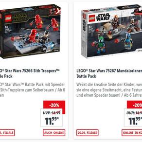 Lidl lohnt sich! LEGO Star Wars Battlepacks ab 20.01.2020