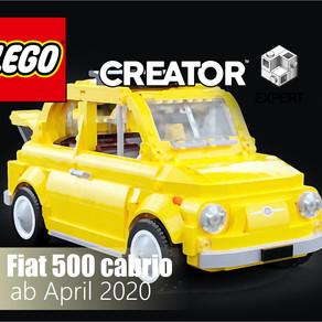 LEGO 10271 Creator Expert Fiat 500 cabrio für 79,99 Euro im April 2020