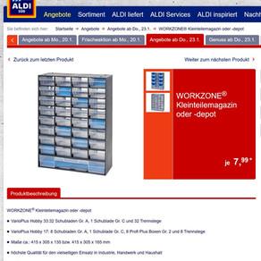 ALDI Nord und ALDI Süd: ab Donnerstag Kleinteilemagazine für 7,99 Euro