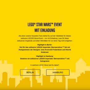 LEGO® STAR WARS™ EVENT MIT EINLADUNG Berlin und Hamburg