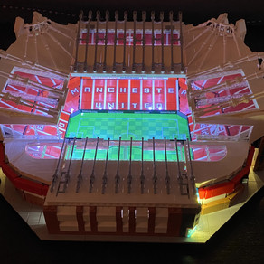 "Manchester ""Theatre of Dreams"" LEGO Stadion Old Trafford 10272 with LED´s Lights"