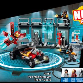 LEGO 76167 Marvel Iron Man Armoury ab August für 29,99 Euro