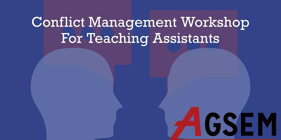 Conflict Management Workshop for TAs