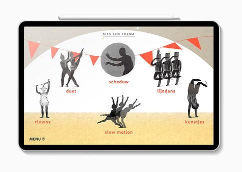 Mijke Coebergh, menu icons Neder illustrationands Dans theater