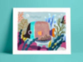 Mijke Coebergh, fish illustration, print illustratie illustrator