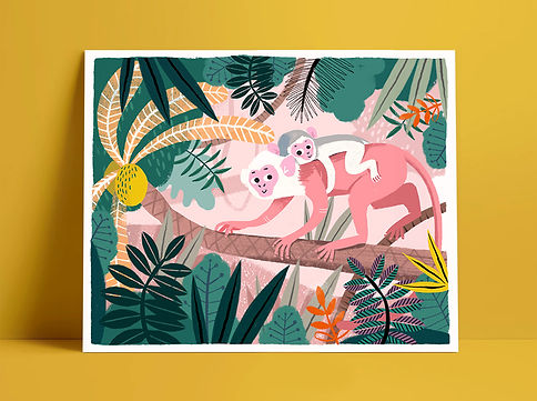Mijke Coebergh, jungle monkey illustration