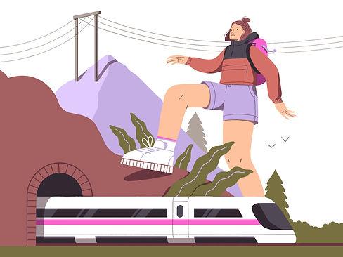 hike illustration Mijke Coebergh
