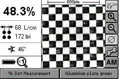 網点面積率・線数・角度の測定 AMスクリーン