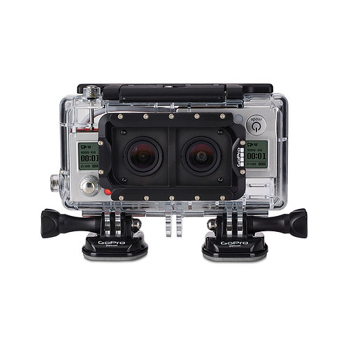 gopro hero 3D rig/小型潛水錄像機3D殼