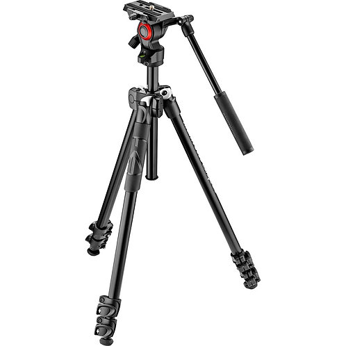 Manfrotto 290 Light 2-Stage tripod with Befree Live Fluid Video Head/攝影用腳架