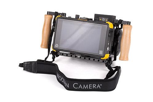 wooden camera director monitor cage v2