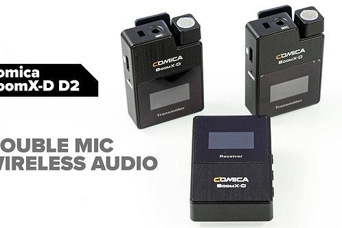 Comica D2 2 to 1 wireless Lav mic 收2人聲Lav mic 相機 電話 兩用無線咪