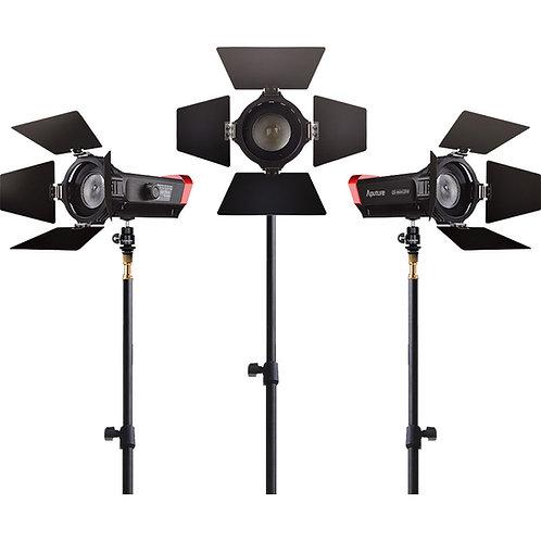 Aputure LS-mini20 3-Light Flight Kit LED, 乾濕電兩用, 3燈套裝