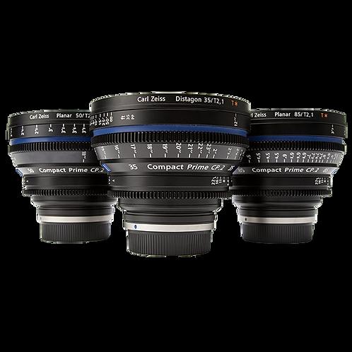 Zeiss CP.2 3 lens kit 25/50/85 /3支電影鏡套裝