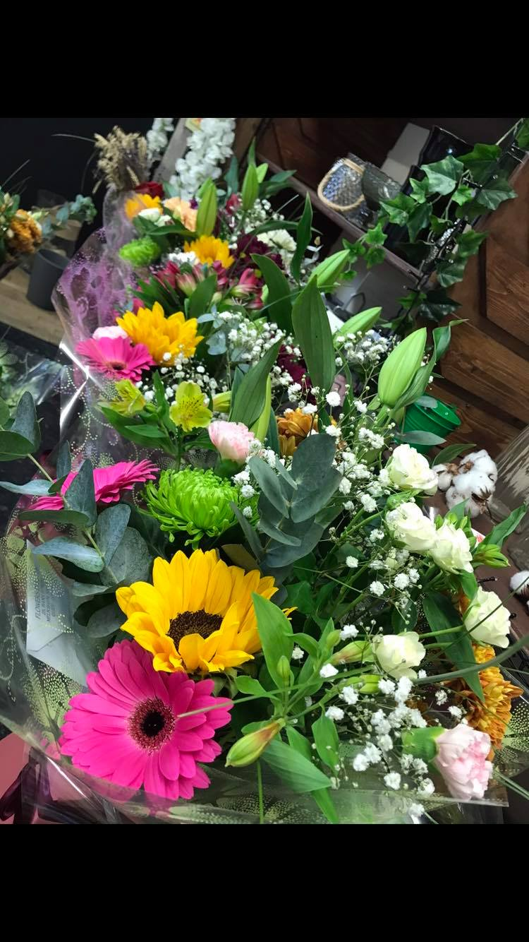 Lots of lovely colourful cut flowers, indoor and outdoor plants
