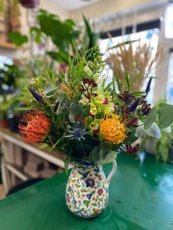 Beautiful jug of flowers
