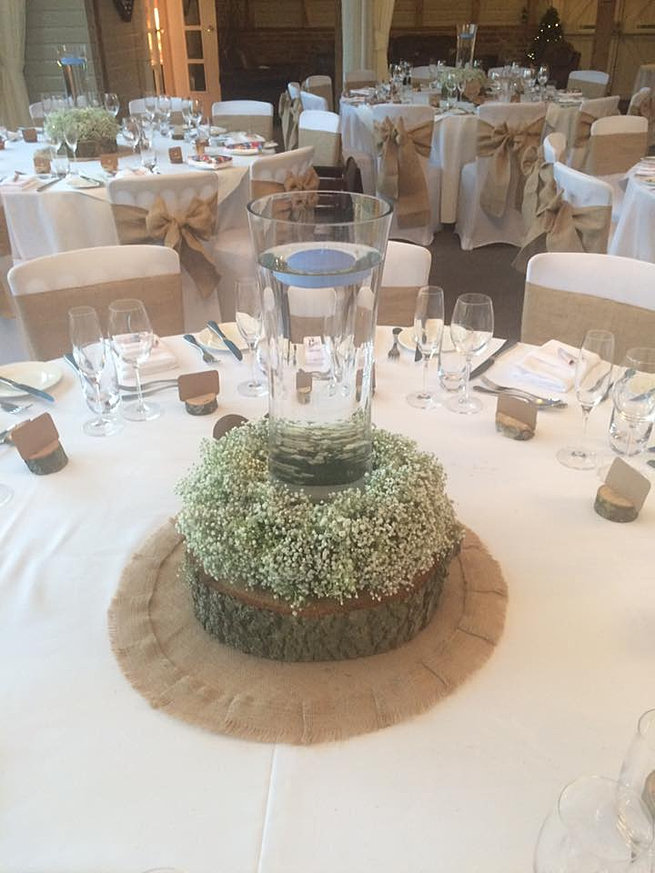 Beautiful Gypsophila Table Centres