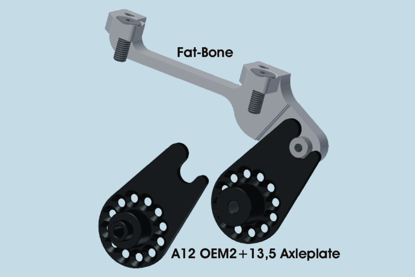 Fat-Bone Mount with A12 Axle Plates