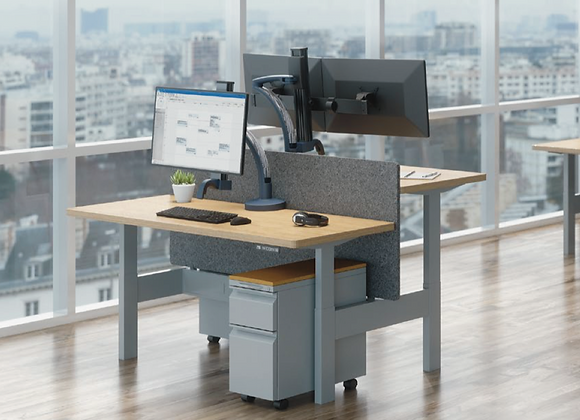 Double Benching Work Space