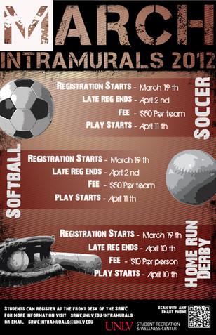 March Intramurals Calendar