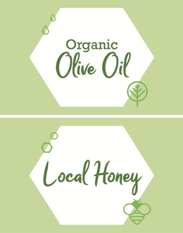 Olive oil & Honey signs