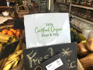 Organic Fruit and Veg printed