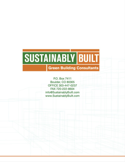 Sustainably Built Informational PDF