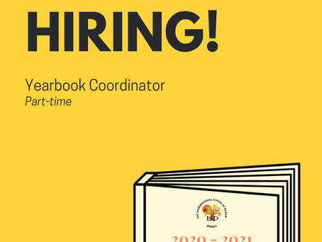 We're Hiring: Yearbook Coordinator
