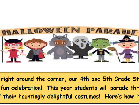 Elementary News : Halloween and Half days