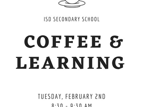 Secondary News: Parent Coffee & Learning