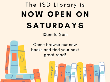Library News: Now Open on Saturdays
