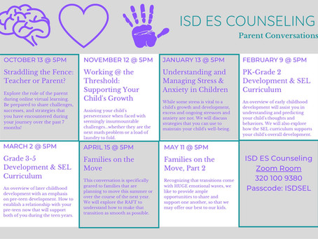 Counselor's Corner: Elementary Parent Conversations