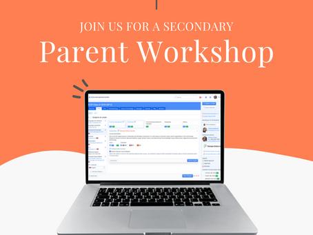 Secondary News: Upcoming Parent Workshop