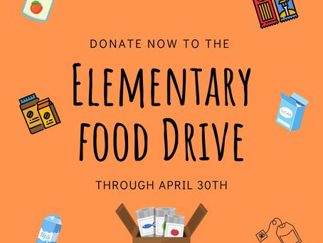 Elementary News: Food Drive