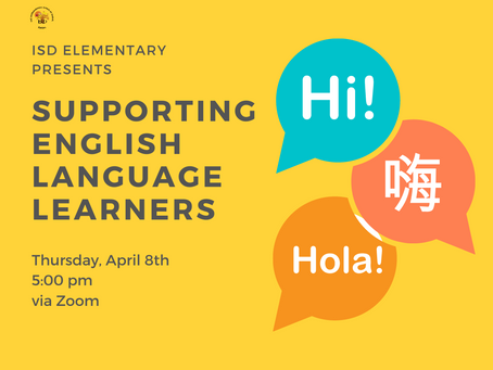 Elementary News: Supporting English Language Learners