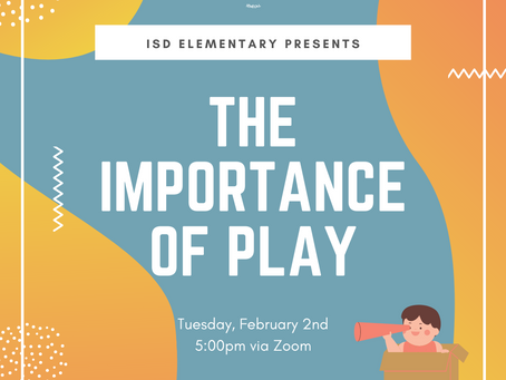 Elementary News: The Importance of Play Parent Session
