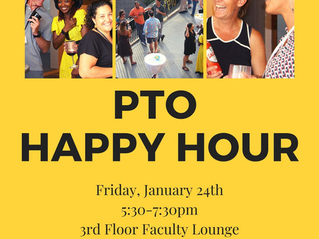 PTO News: Join Us at the PTO Happy Hour