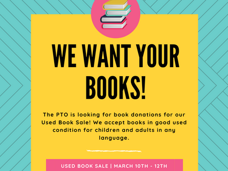 PTO News: Used Book Sale Donations Needed